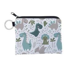 Cartoon Dinosaur Pattern Coin Card Key Ring Wallet Pouch Mini Purse Zipper Bag