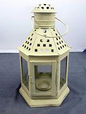 World Market Large White Ornate Hanging Lantern 12 1/2'' Tall Made in India