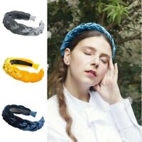 Headband Braided Velvet Twist Knot Tie Hairband Women's Hair Hoop Fashion