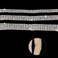 1 Meter Diamante Chain Sparkling Rhinestone Silver Crystals Crafts Jewelry DIY