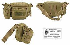 M.O.L.L.E. Waist Bag / Bug Out Bag /Tactical / Military / Survival Gear - TAN