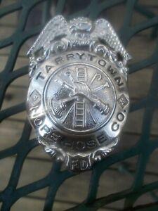 Vintage Fireman Badge Tarrytown NY Hope Hose Co.
