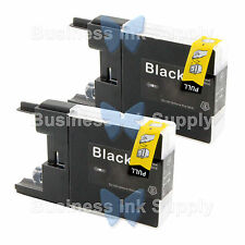 2 BLACK LC71 LC75 NON-OEM Ink for BROTHER MFC-J430W LC-71 LC-75 LC71BK LC75BK