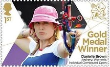 UK ParalympicsGB Gold Medal Winner Single Stamp - Danielle Brown MNH 2012