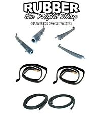 rubber the right way classic auto ebay stores 1946 Chevy Rat Rod front door window run sweep felts weatherstrip seals kit set for chevy gmc truck