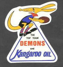KANGAROO PETROLEUM CO. Sticker Decal MELBOURNE THE DEMONS Petrol OIL VFL AFL