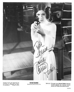 Carrie Fisher Leia Star Wars Signed Autograph 8 x 10 Photo PSA DNA j2f1c *30