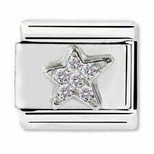 GENUINE Nomination Classic Silver Asymmetric Star CZ Charm 330304/25 / £29 RRP