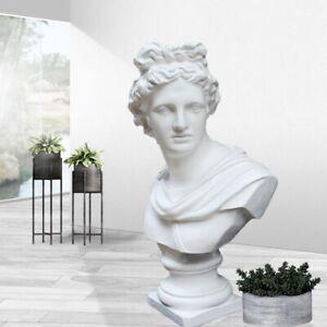 Greek God of Sun and Poetry Apollo Head Bust Statue Roman Sculpture Figurine