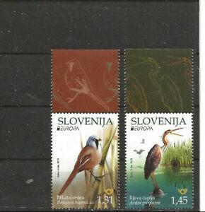 Slowenien , 2019 Europa - Vögel 1367 - 68**