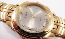 Seiko Gold Tone Stainless Steel 7N42-0BD8 Sample Watch NON-WORKING