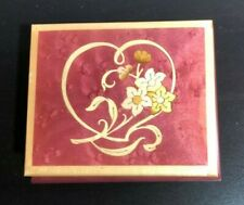 """San Francisco Music Box Co. Made in Italy Jewelry/Music Box """"Romance"""" Mint Cond"""