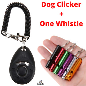 Dog Puppy Cat Clickers Whistle, Pet Dogs Clicker Training, Obedience, Behaviour