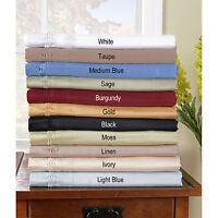 1000TC EURO KING IKEA SIZE ALL SOLID BEDING-SHEETS/DUVET/FITTED EGYPTIAN COTTON