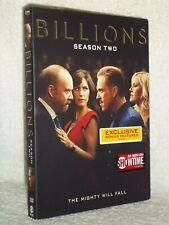 Billions Season 2 (DVD, 2017) NEW Damian Lewis Daniel Isaac Maggie Siff Malin