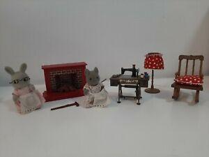 Vintage 1980's Sylvanian Families - Bulk Lot of Furniture's & Figures