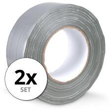 2 Rollen zuverlässiges Gewebeband 48mm breit, 50m lang für Hobby & Beruf, grau