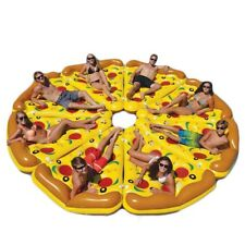 Inflatable Pool Mattress Pizza Float Swimming Ring Water Lounger Beach Lounge