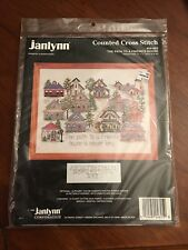 """Janlynn Counted Cross Stitch Kit The Path To A Friends House # 04-805 - 14"""" x 1"""