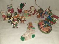 Vintage Collection Lot / Mouse Christmas Ornaments Mickey Train Santa Gifts USA