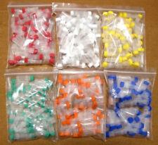 Plastic Vials Microcentrifuge Tubes Orange Lab Screw Cap Tube Lot Sample new 1ml