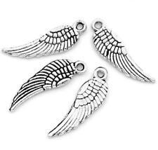LOT de 12 PENDENTIFS perles breloque grandes AILES d'ange oiseau 30x9,5mm WING