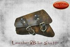 La Rosa 2004&UP H-D Sportster/48/Iron Left LEATHER Swingarm Bag - Rustic Brown