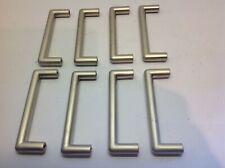 8 matt chrome effect D cabinet handles - hardware
