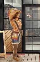 """72.5"""" Tobacco Cigar Store Indian LifeSize Native American Statue Collectible"""