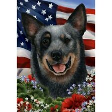 Patriotic (1) House Flag - Blue Australian Cattle Dog 16072