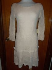 Victoria's Secret Moda International Ivory Crochet Fit & Flare Dress XS New NWT