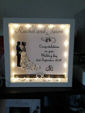 Personalised wedding/anniversary frames with lights