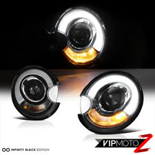 2007-2012 Mini Cooper s Clubman Convertible Black Halo Headlights Lamps R55 R56