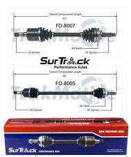 For Mercury Tracer Ford Escort Pair Front CV Axle Shafts SurTrack Set Std.Trans.