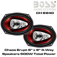"Boss Audio CH6940 6""x9"" 4-Way Co-axial Car Replacement Shelf Speakers 500 Watts"