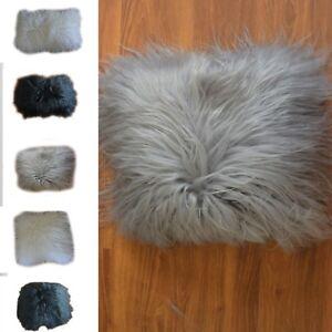 Icelandic sheepskin pillows cushions genuine white, black, grey mongolian natura