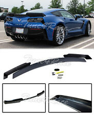For 14-Up Corvette C7 Unpainted Rear Spoiler Stage 2 ABS Stingray Z06 Z07