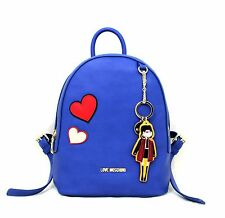 Woman Backpack LOVE MOSCHINO Rucksack blue with doll New JC4090PP14LM0750