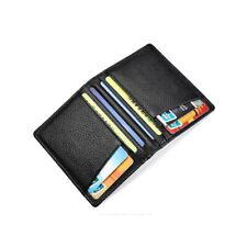 Роскошная мужская натуральная кожа тонкий бумажник ID кредитной карты держатель кошелек мини бумажник
