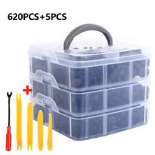 620Pcs Car Retainer Clips Kit Door Push Panel Bumper Screws Fasteners Rivets Set