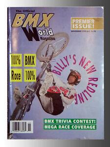 BMX World Magazine Nov. 1990 Premier Issue, Features Billy Griggs