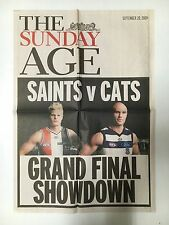 "FOOTBALL GRATE POSTER ""ST. KILDA VS GEELONG"" 2009 GRAND FINAL ""SHOWDOWN"""