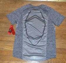 Fila Sport Performance T-Shirt Tee Top Provent Mesh Panels Gray Alloy Twisted