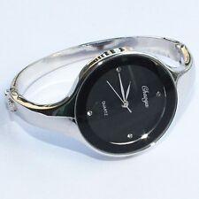 Hermosa Dama Negro Chica Reloj De Pulsera