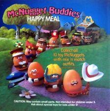 1989 McDonalds MIP McNugget Buddies Complete Set plus U-3 Toys