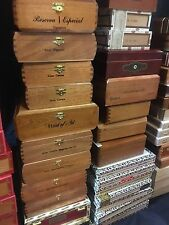 Lot of 14+ Premium Cigar Boxes