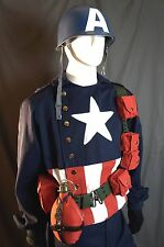 Marvel Avengers Captain America WWII Costume / Cosplay with Helmet and Shield