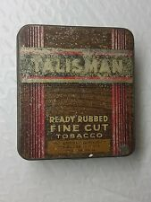 TALISMAN Ready Rubbed Fine Cut empty tin British Australasian Tobacco Co