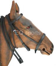 Leather Hunting Style Hunting Bridle Dark Brown & Black Sizes Shet,Pony,Cob,Full
