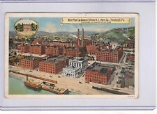 c1915 PITTSBURGH PA POSTCARD H J HEINZ PLANT BOATS TRAIN VISITORS ALWAYS WELCOME